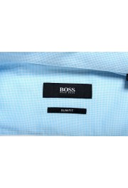 "Hugo Boss Men's ""Jerrin"" Slim Fit Blue Long Sleeve Dress Shirt : Picture 7"