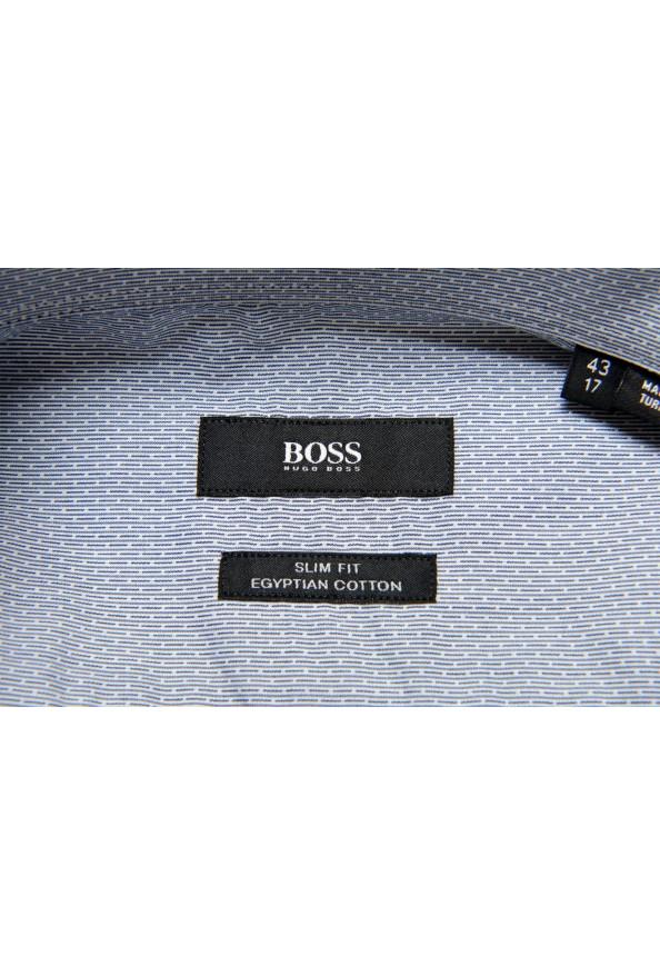 "Hugo Boss Men's ""Jenno"" Slim Fit Gray Long Sleeve Dress Shirt: Picture 7"