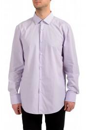 "Hugo Boss Men's ""Jenno"" Purple Long Sleeve Dress Shirt"