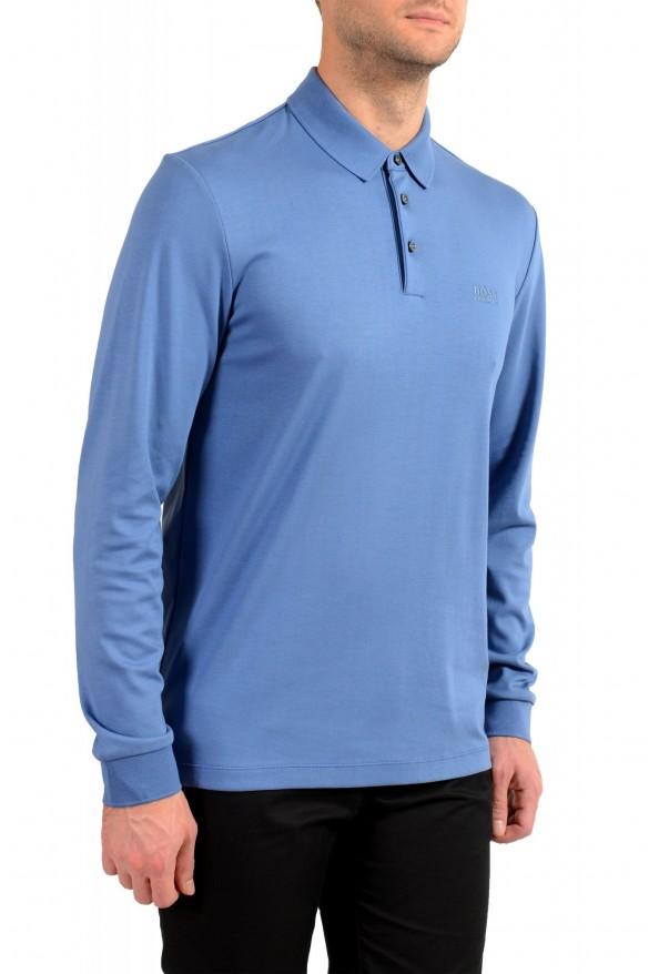 "Hugo Boss ""Pado 11"" Men's Blue Long Sleeve Polo Shirt: Picture 2"