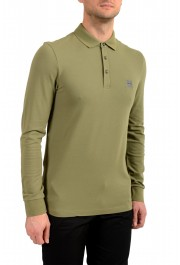 """Hugo Boss """"Passerby"""" Men's Slim Fit Green Long Sleeve Polo Shirt: Picture 2"""