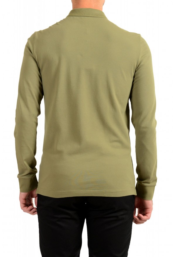 """Hugo Boss """"Passerby"""" Men's Slim Fit Green Long Sleeve Polo Shirt: Picture 3"""