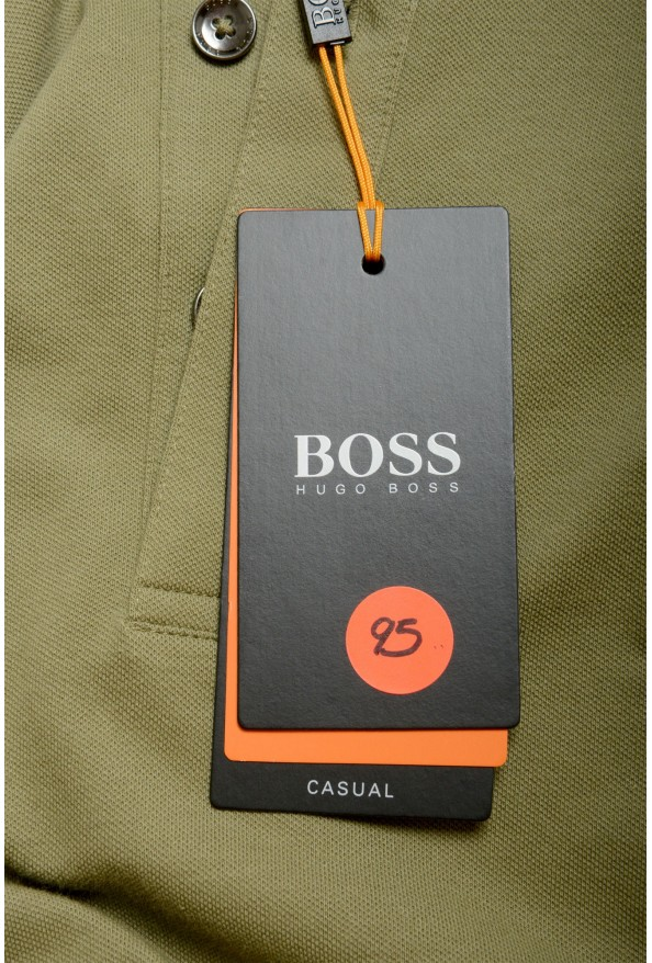 """Hugo Boss """"Passerby"""" Men's Slim Fit Green Long Sleeve Polo Shirt: Picture 6"""