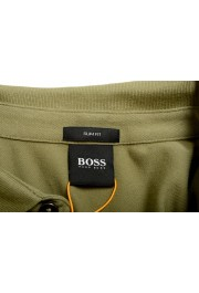 """Hugo Boss """"Passerby"""" Men's Slim Fit Green Long Sleeve Polo Shirt: Picture 7"""