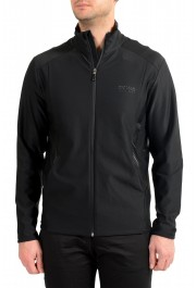 "Hugo Boss ""Sicon"" Men's Black Full Zip Track Sweater Jacket"