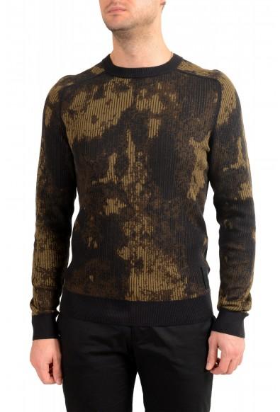 "Hugo Boss ""Kafisher"" Men's Wool Multi-Color Crewneck Pullover Sweater"