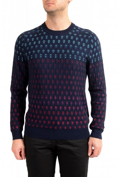 "Hugo Boss ""Agradeo"" Men's Multi-Color Wool Crewneck Pullover Sweater"