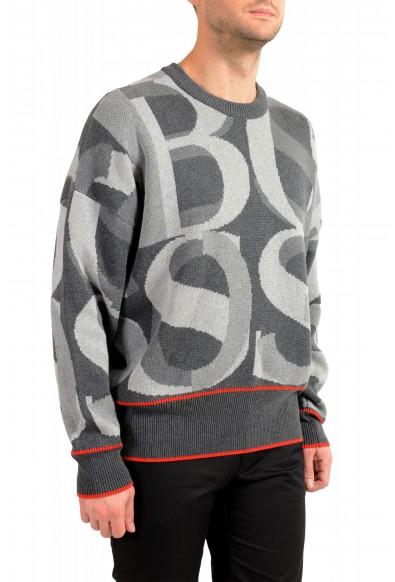 "Hugo Boss ""Ponzi"" Men's Logo Print Crewneck Pullover Sweater: Picture 2"