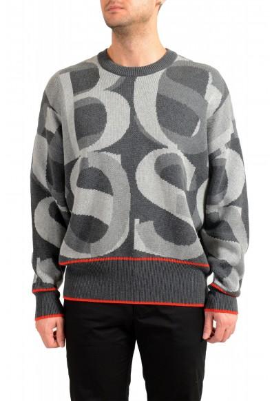 "Hugo Boss ""Ponzi"" Men's Logo Print Crewneck Pullover Sweater"