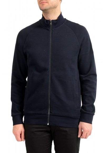"Hugo Boss ""Shepherd 33"" Men's Blue Full Zip Track Sweater Jacket"