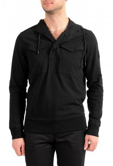 "Hugo Boss Men's ""Zelevel"" Black Hooded Sweatshirt Sweater"