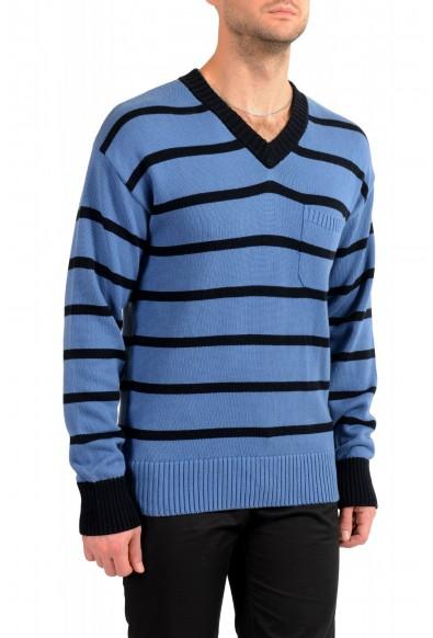 """Hugo Boss Men's """"Pattino"""" Striped V-Neck Cashmere Pullover Sweater: Picture 2"""
