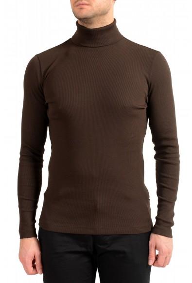 """Hugo Boss Men's """"Tenore 06"""" Brown Turtleneck Pullover Sweater"""