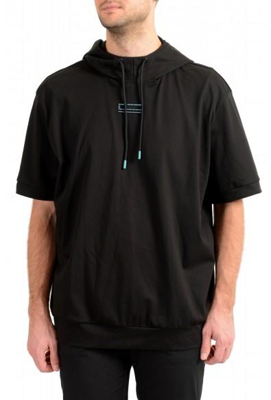 """Hugo Boss Men's """"Swoody"""" Black Hooded Stretch T-Shirt"""