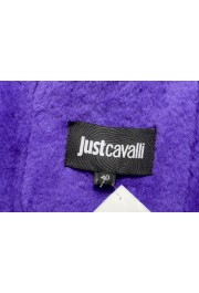 Just Cavalli Women's 100% Leather Lamb Fur Trimmed Brown Jacket : Picture 5