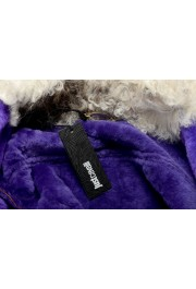 Just Cavalli Women's 100% Leather Lamb Fur Trimmed Brown Jacket : Picture 6