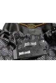 Just Cavalli Women's Black 100% Leather Full Zip Bomber Jacket : Picture 6