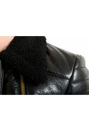 Just Cavalli Women's Black 100% Leather Fur Full Zip Shearling Jacket: Picture 4