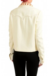 Just Cavalli Women's Ivory Beads Decorated Button Down Jacket : Picture 3