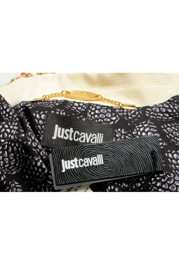 Just Cavalli Women's Ivory Beads Decorated Button Down Jacket : Picture 6