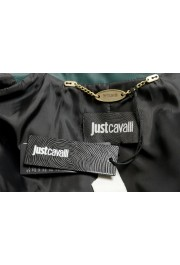 Just Cavalli Women's 100% Leather Green Full Zip Bomber Jacket : Picture 6