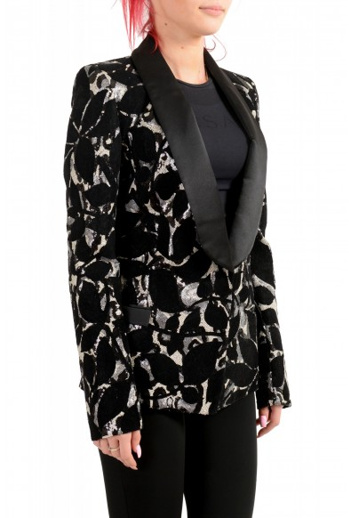 Just Cavalli Women's Sequins Decorated Tuxedo Style Blazer : Picture 2