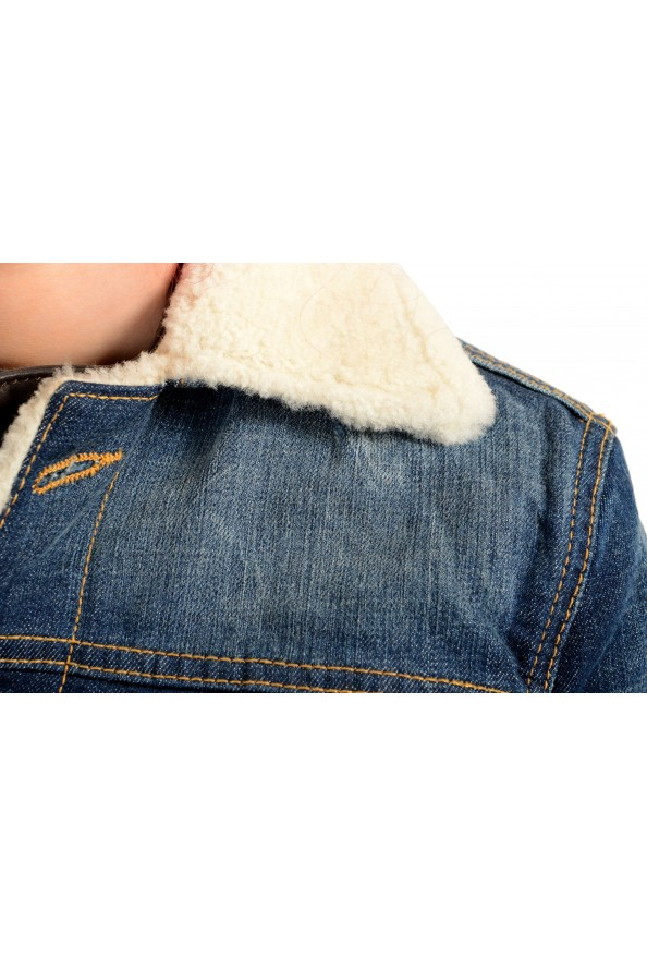 Dsquared2 Women's Denim & Leather Fur Full Zip Shearling Jacket : Picture 4