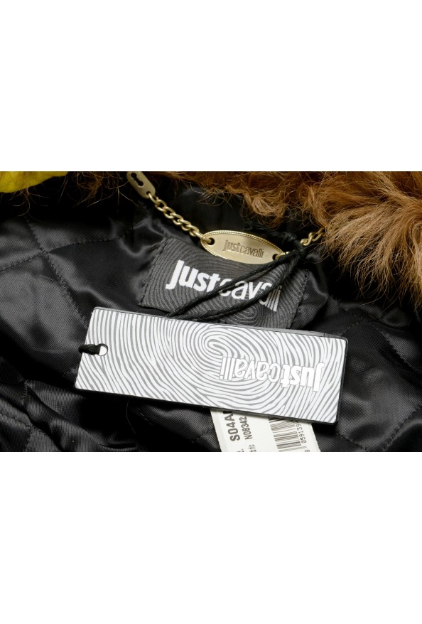 Just Cavalli Women's 100% Leather Goat Hair Trimmed Basic Jacket: Picture 6