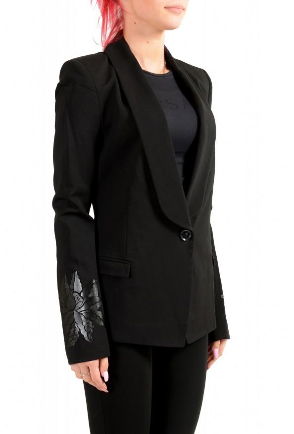 Just Cavalli Women's Wool Black One Button Blazer : Picture 2