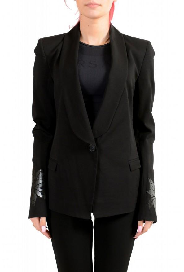 Just Cavalli Women's Wool Black One Button Blazer