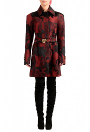 Just Cavalli Women's Multi-Color Floral Print Belted Trench Coat