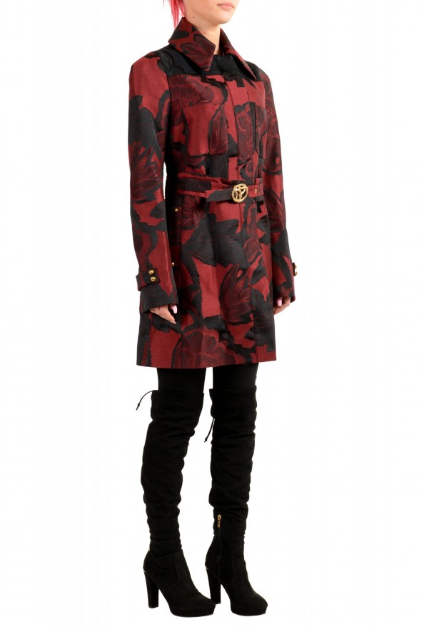 Just Cavalli Women's Multi-Color Floral Print Belted Trench Coat : Picture 2