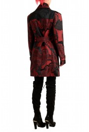 Just Cavalli Women's Multi-Color Floral Print Belted Trench Coat : Picture 3