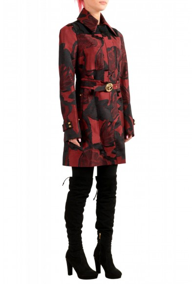 Just Cavalli Women's Multi-Color Floral Print Belted Trench Coat: Picture 2