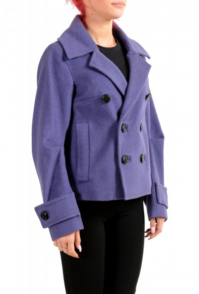Dsquared2 Women's 100% Wool Purple Double Breasted Basic Jacket: Picture 2