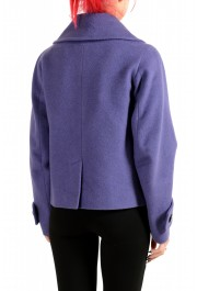 Dsquared2 Women's 100% Wool Purple Double Breasted Basic Jacket: Picture 3