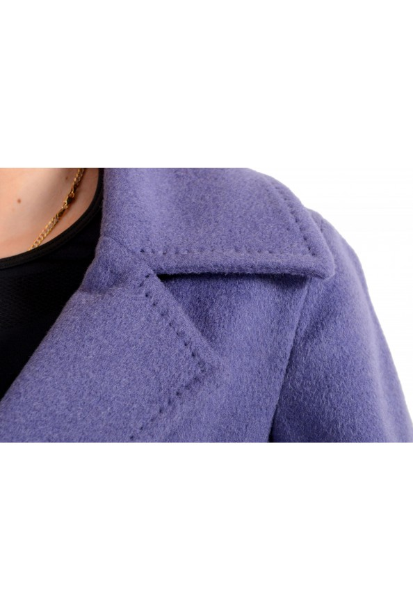 Dsquared2 Women's 100% Wool Purple Double Breasted Basic Jacket: Picture 4