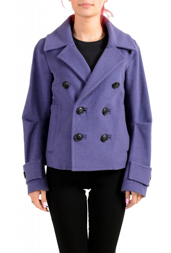 Dsquared2 Women's 100% Wool Purple Double Breasted Basic Jacket