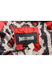 Just Cavalli Women's Red Real Beaver Fur Collar Long Down Parka : Picture 5