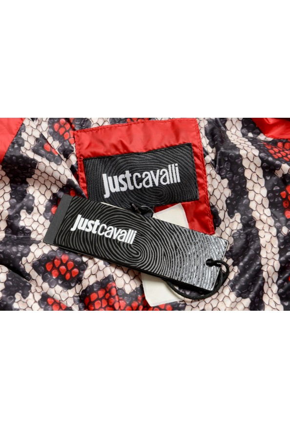 Just Cavalli Women's Red Real Beaver Fur Collar Long Down Parka : Picture 6