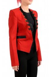 Just Cavalli Women's Red Wool One Button Blazer : Picture 2