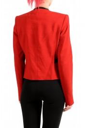 Just Cavalli Women's Red Wool One Button Blazer : Picture 3