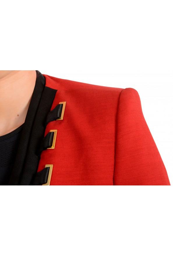 Just Cavalli Women's Red Wool One Button Blazer : Picture 4