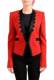 Just Cavalli Women's Red Wool One Button Blazer