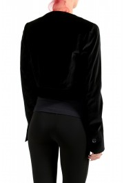 Just Cavalli Women's Black Double Breasted Velour Cropped Blazer : Picture 3
