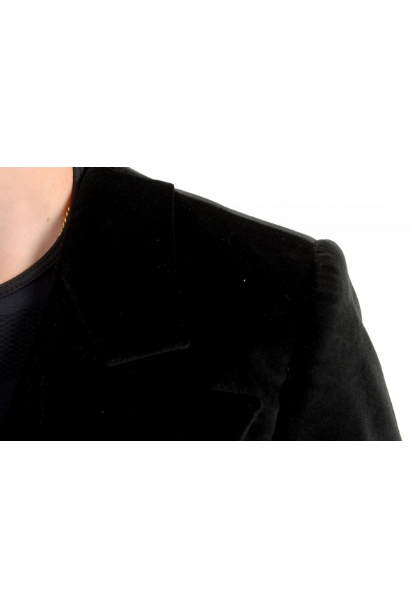 Just Cavalli Women's Black Double Breasted Velour Cropped Blazer : Picture 4