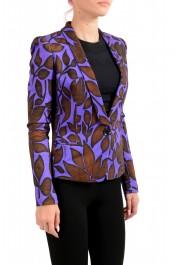 Just Cavalli Women's Multi-Color Floral Print One Button Blazer: Picture 2
