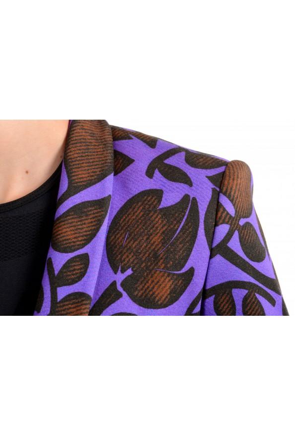 Just Cavalli Women's Multi-Color Floral Print One Button Blazer: Picture 4