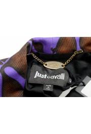 Just Cavalli Women's Multi-Color Floral Print One Button Blazer: Picture 5