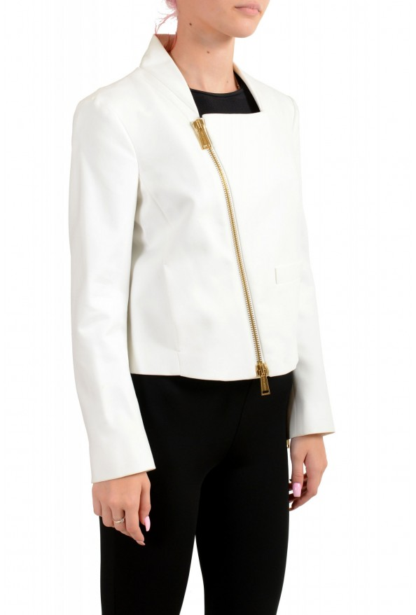 Dsquared2 Women's White Full Zip Cropped Blazer : Picture 2